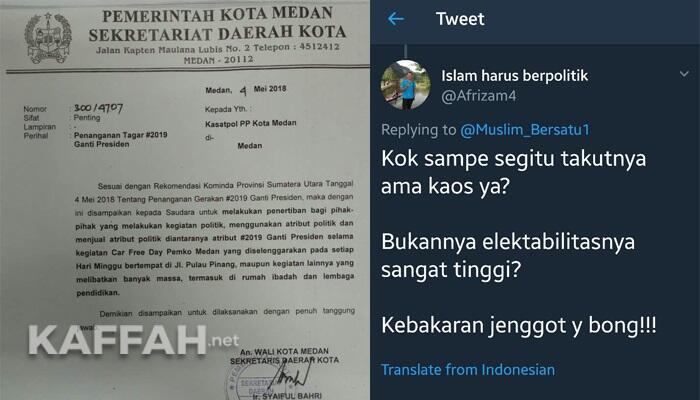 """Pemkot Medan Kerahkan Aparat """"Tertibkan"""" Atribut #2019GantiPresiden"""