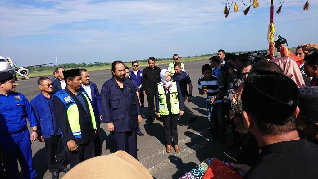 Surya Paloh Turun Tangan Kampanyekan Sarimuda-Abdul Rozak