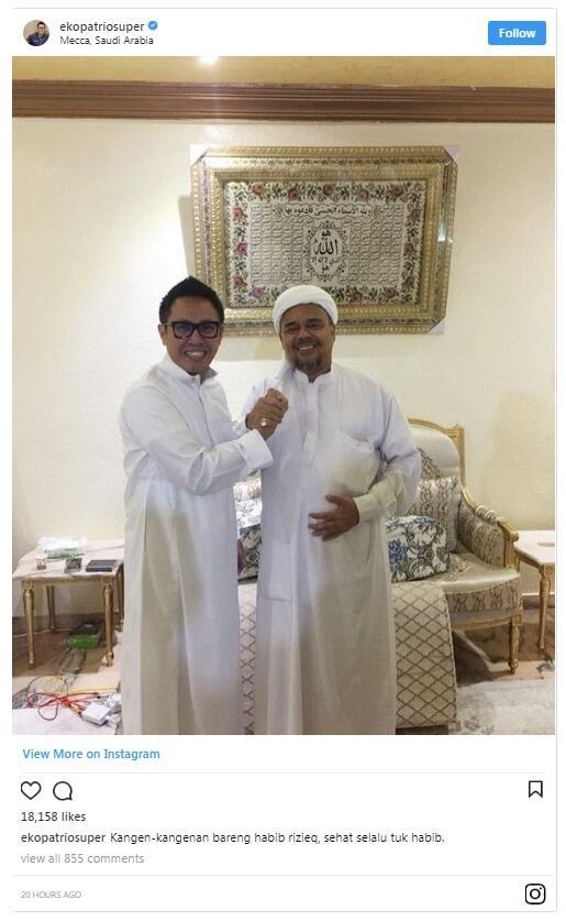 Eko Patrio Kangen-kangenan dengan Rizieq Shihab di Mekkah