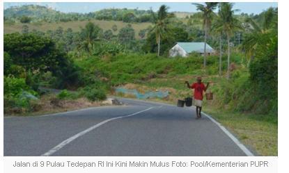 Jalan di 9 Pulau Tedepan RI Ini Kian Mulus