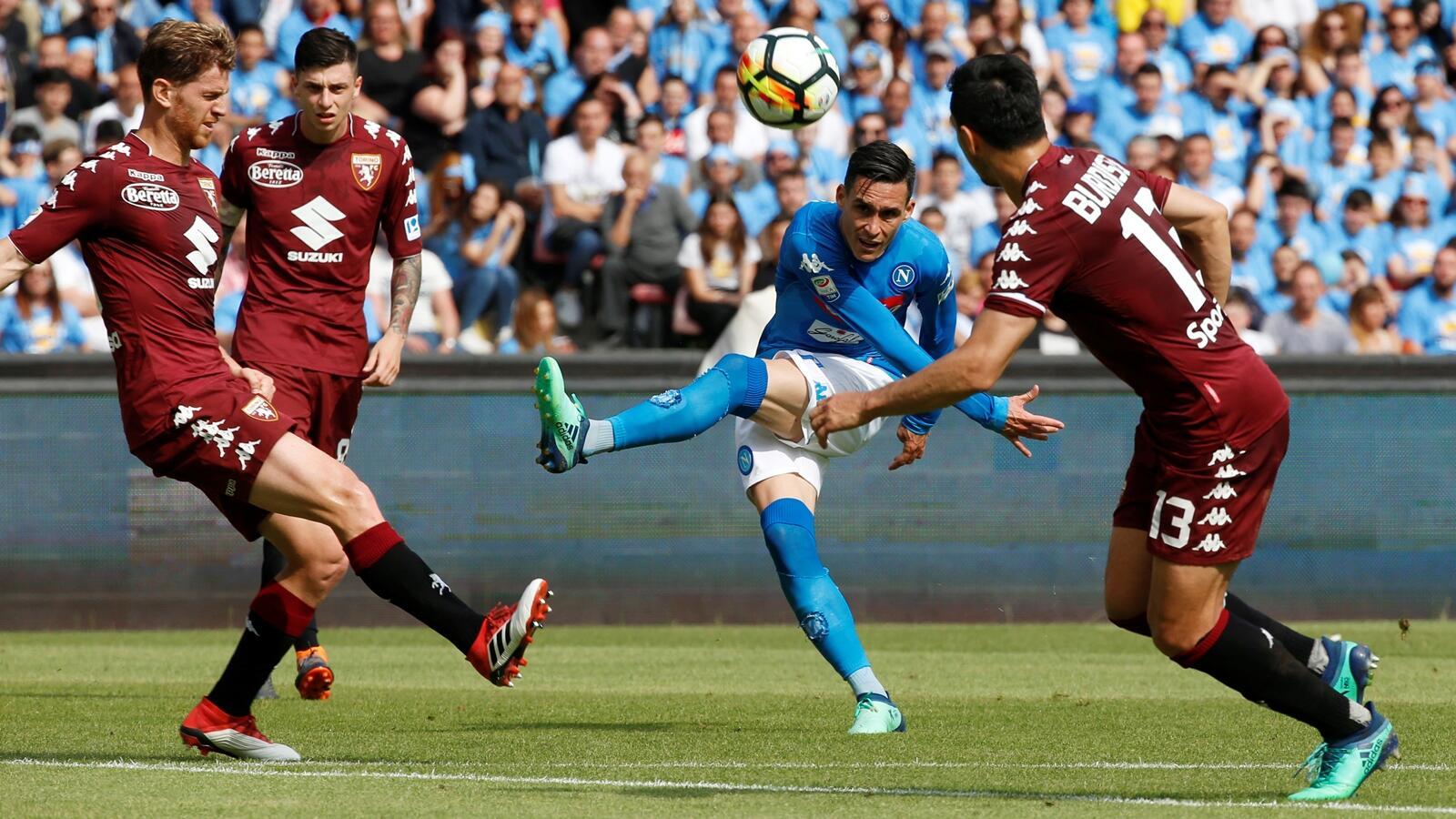 Imbang dengan Torino, Peluang Juara Napoli Kian Tipis