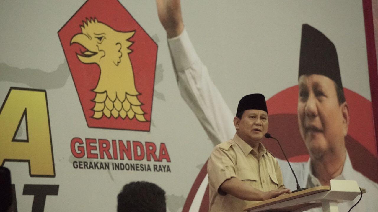 Prabowo: Sekarang Kita Seperti Tamu di Rumah Sendiri