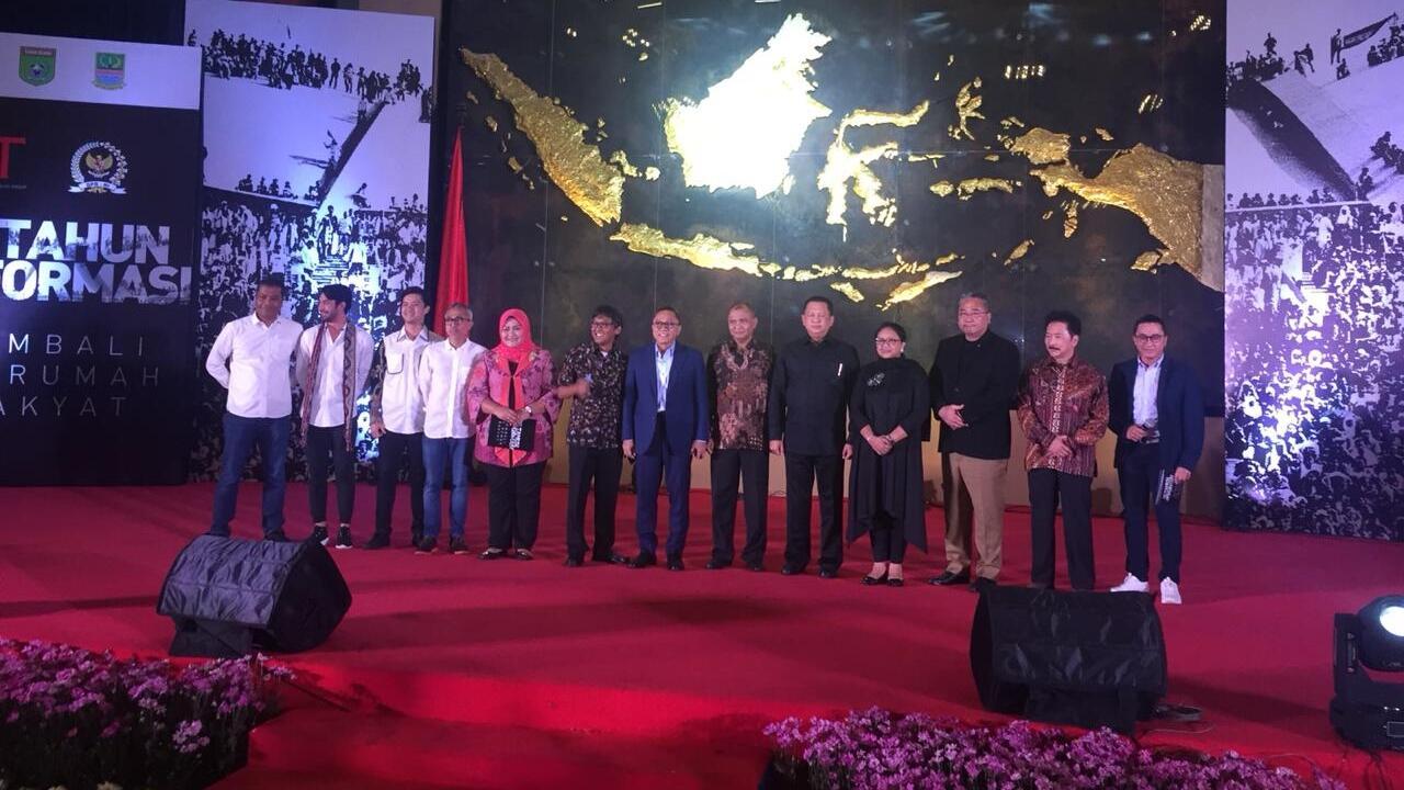Bamsoet hingga Menlu Retno Baca Puisi di Peringatan 20 Tahun Reformasi