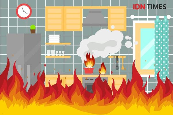 Diduga Akibat Puntung Rokok, Unit Apartemen Pancoran Riverside Terbakar