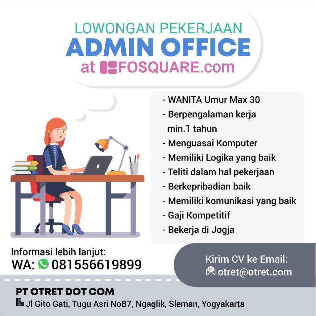 Lowongan Admin Staff At Yogya (fosquare.com)