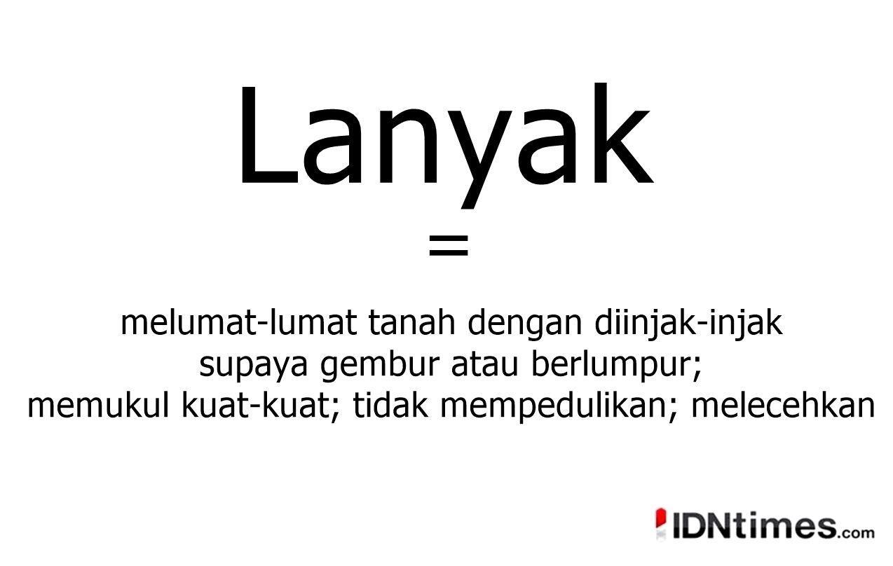 10 Istilah dalam bahasa Indonesia yang jarang di dengar orang