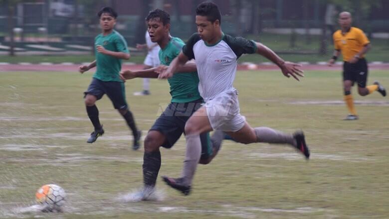 Dibawah Guyuran Hujan Deras, Timnas U-16 Ditahan Imbang PS TIRA U-17
