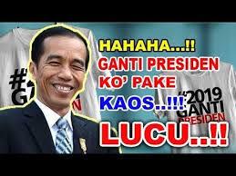 Jokowi: Silakan Pakai Kaus #2019GantiPresiden
