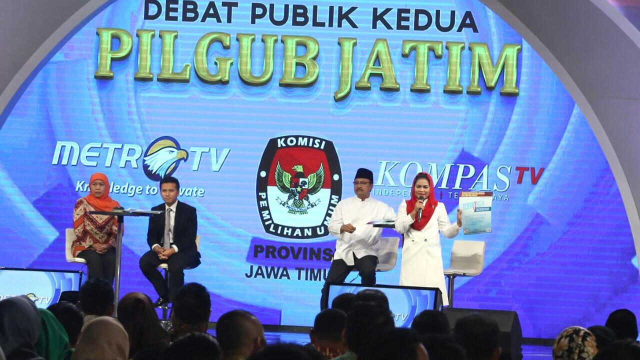 Panelis Debat Pilgub Jatim Puji Kesiapan Data Dari Kedua Paslon