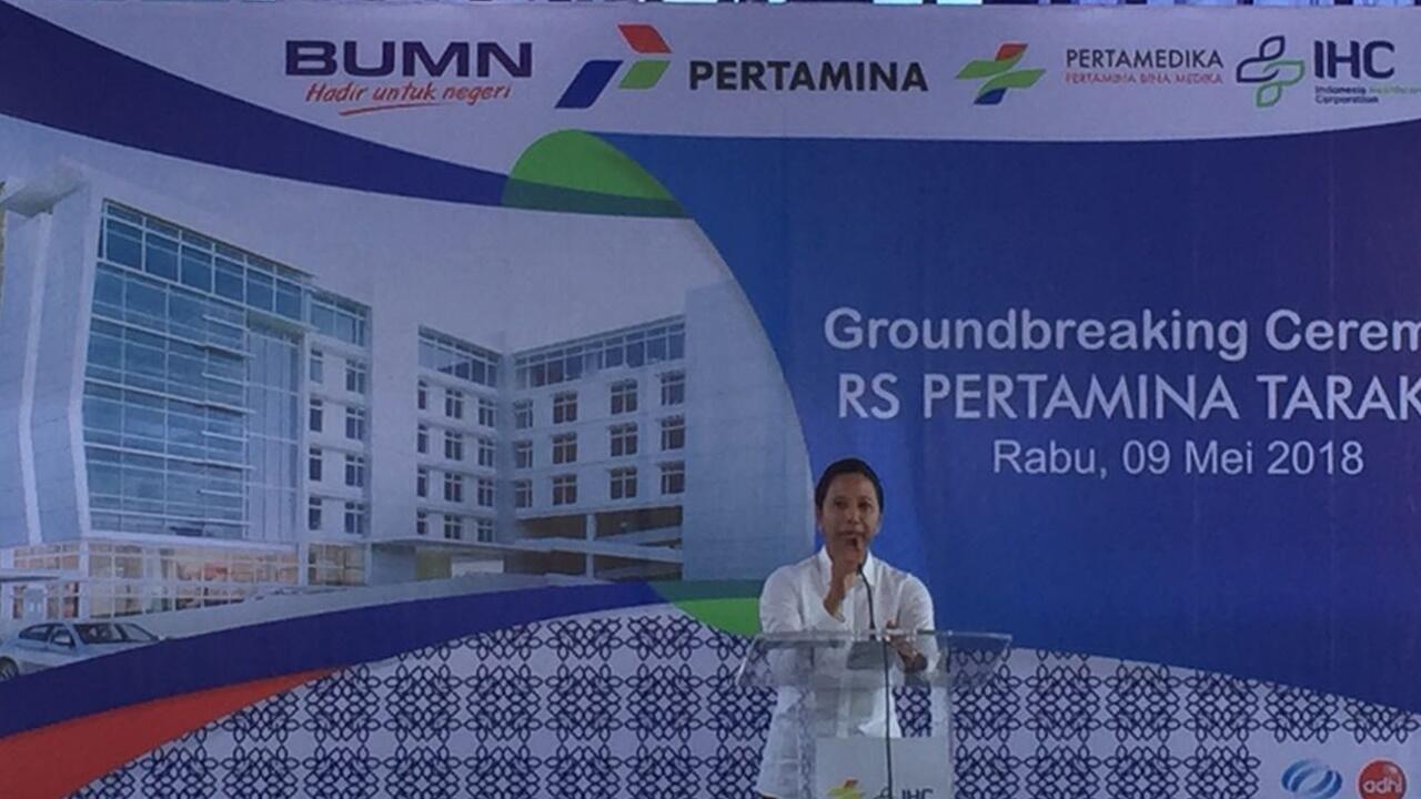 Rini Groundbreaking Rumah Sakit Pertamina di Tarakan