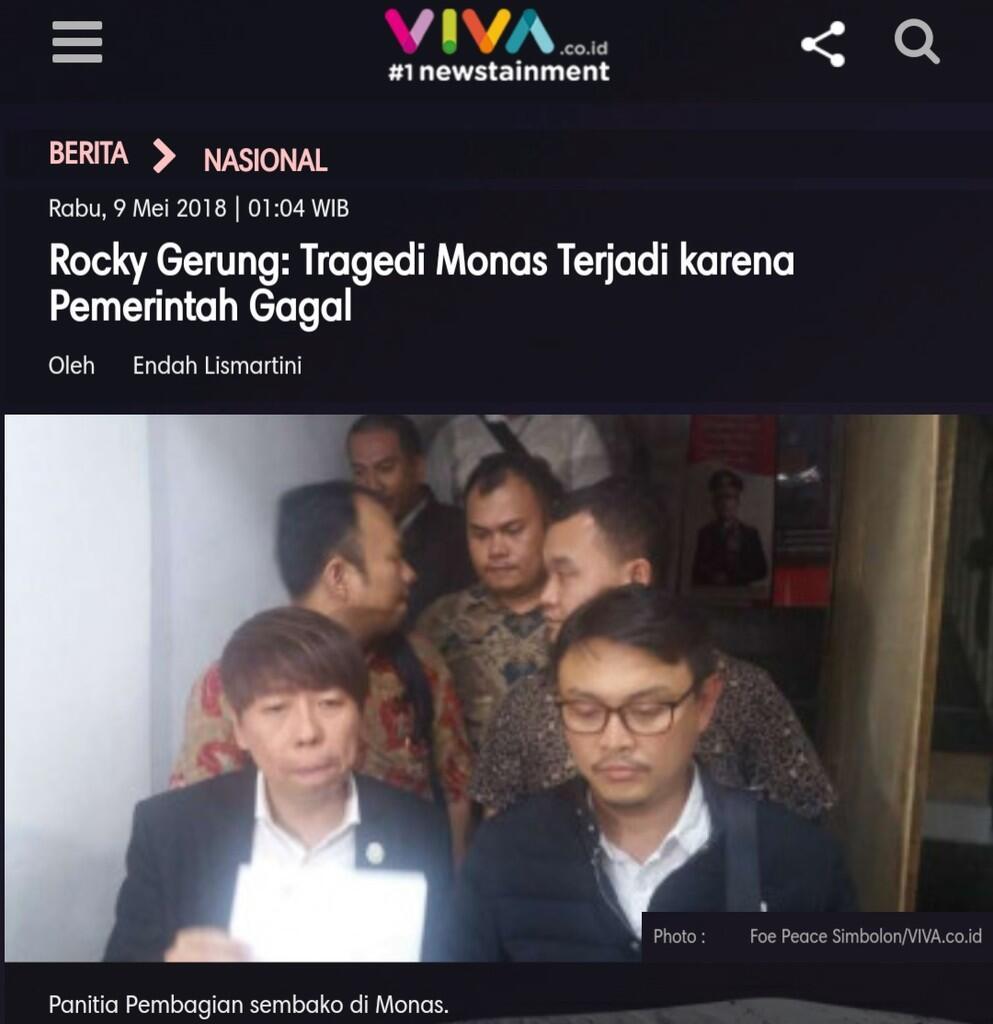 Rocky Gerung: Tragedi sembako Monas Terjadi karena Pemerintah Gagal