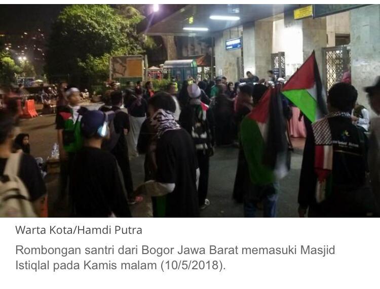 Massa Aksi 115 Mulai Berkumpul di Masjid Istiqlal Jakarta