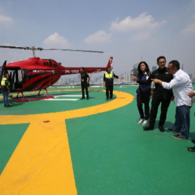 BNI Luncurkan Jasa Antar Jemput Naik Helikopter untuk Nasabah