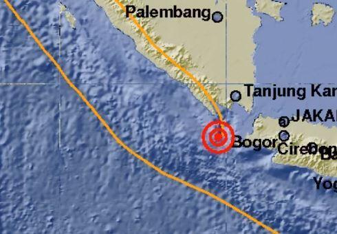 Gempa 5,7 Magnitudo Guncang Wilayah Lampung