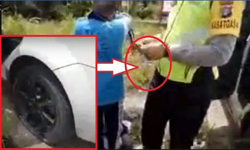 Kesal Ditilang, Bocah SMP Kempesin Ban Mobil Polisi