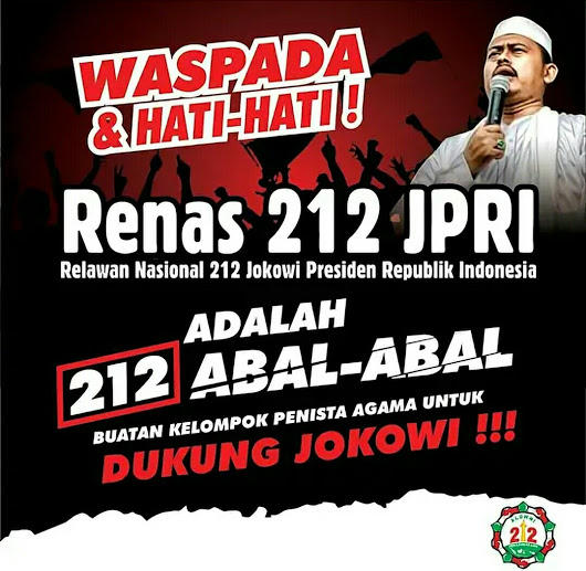 Ini Alasan Relawan Jokowi Pakai Nama 212