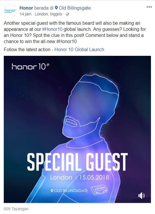 Tebak Special Guest di Launch Global Honor dan Dapatkan Honor 10 Sekarang juga