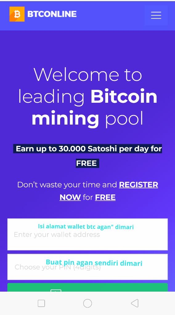 Cloud Mining Bitcoin Di Btconline Free Dan Berbayar.. Investasi Bitcoin