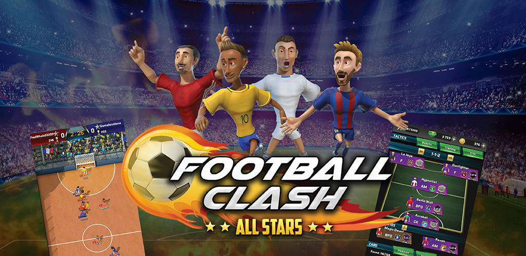 (IOS/ANDROID) Football Clash; All Stars download gratis sekarang!