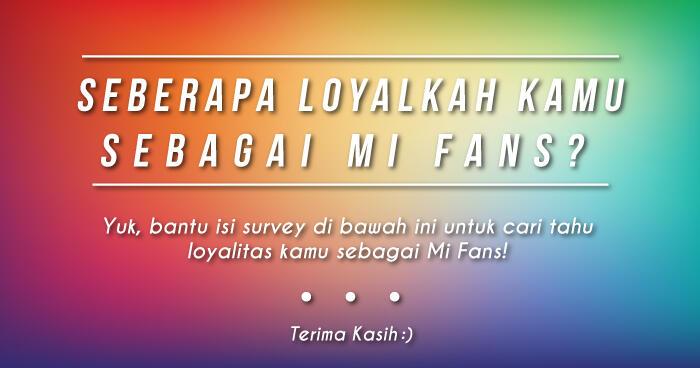 Mi Fans, bantu ane isi survey ini gan! #DemiLulus #DeritaMahasiswaSemAkhir