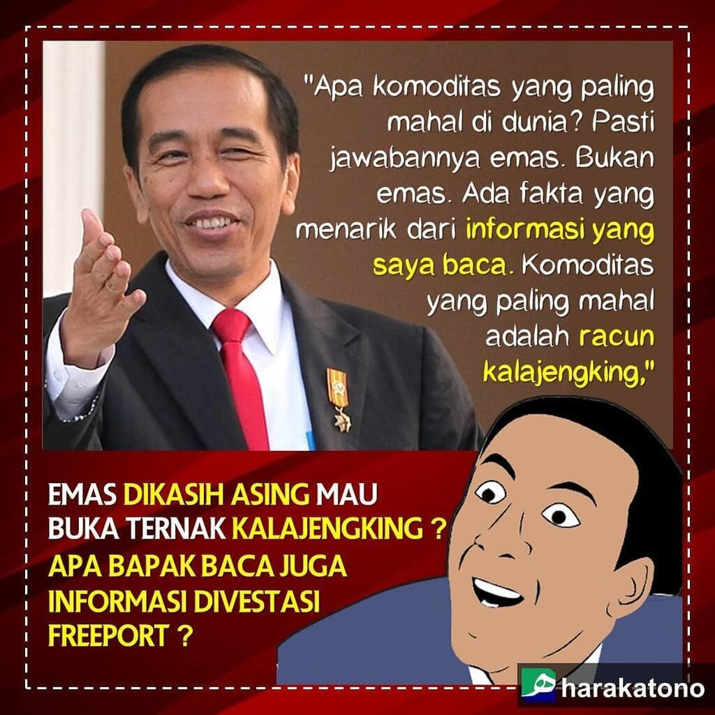 """Jokowi dan Pidato Memalukan """"Bisnis Kalajengking"""""""