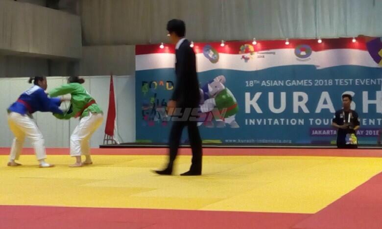 Bersaing di Test Event, Cabang Kurash Incar Satu Medali Emas Asian Games 2018