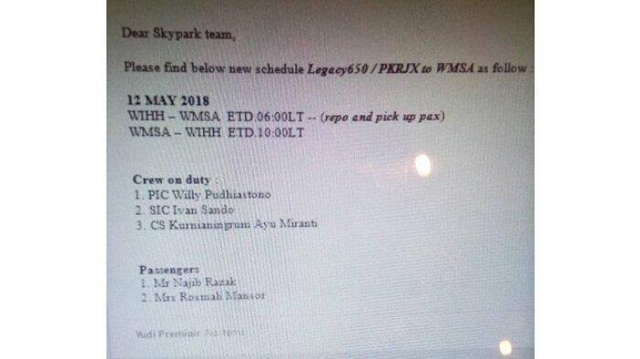 Beredar Manifes Nazib Razak dan Istri ke Jakarta, Akan Melarikan Dirikah?