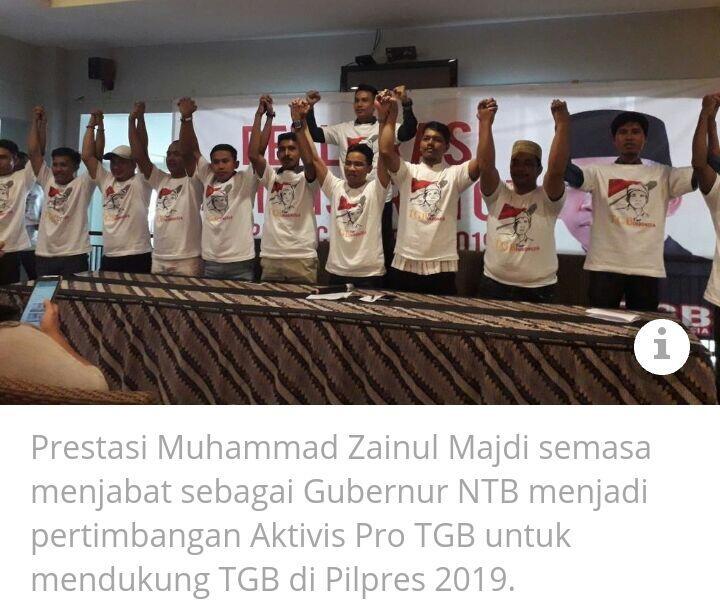 Aktivis Pro TGB Minta Parpol Dengarkan Aspirasi Rakyat