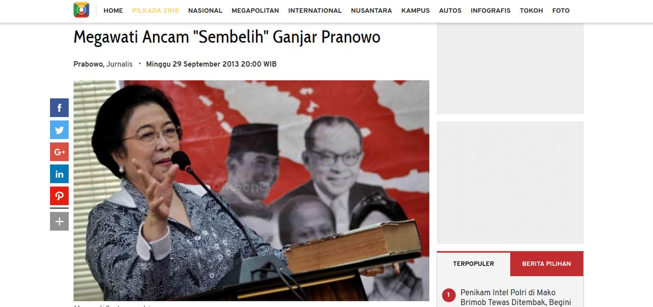 (Sembelih Lagi) Megawati Ancam Sembelih Pengurus PDIP jika Kalah di Jateng