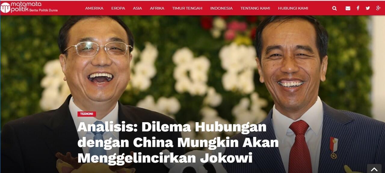 Dilema Hubungan dengan China Mungkin Akan Menggelincirkan Jokowi