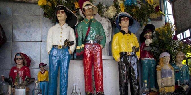 Di Caracas, Venezuela, para penjahat legendaris dipuja bak orang suci