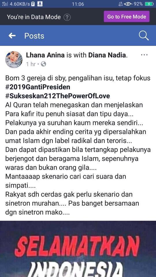 PKS Ogah Ladeni Bom Surabaya Rekayasa, Fokus #2019GantiPresiden
