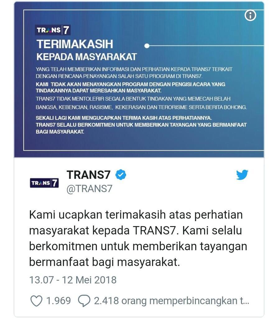 Ustadz Maaher At Thuwailibi Ulama Radikal Ditolak Trans7, Tangkap Juga Pak Polisi!