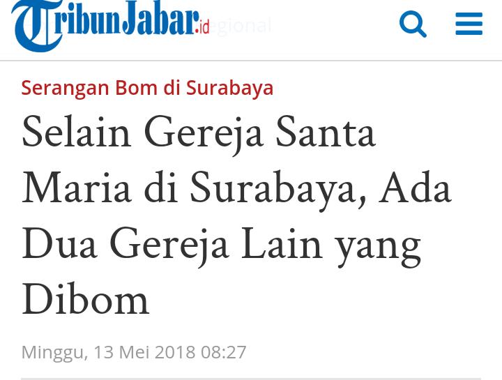 Ledakan Terjadi di Gereja di Surabaya