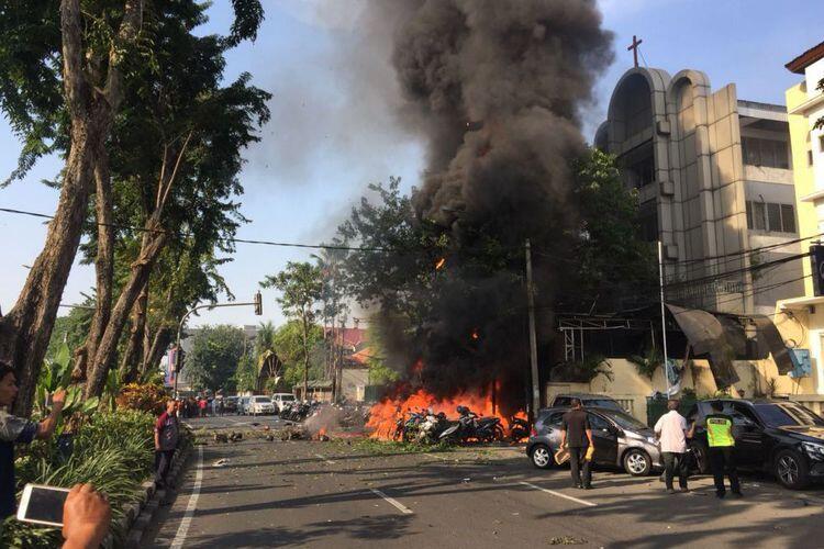 Polisi Sebut Ledakan di Gereja Santa Maria Tak Bercela Bom Bunuh Diri