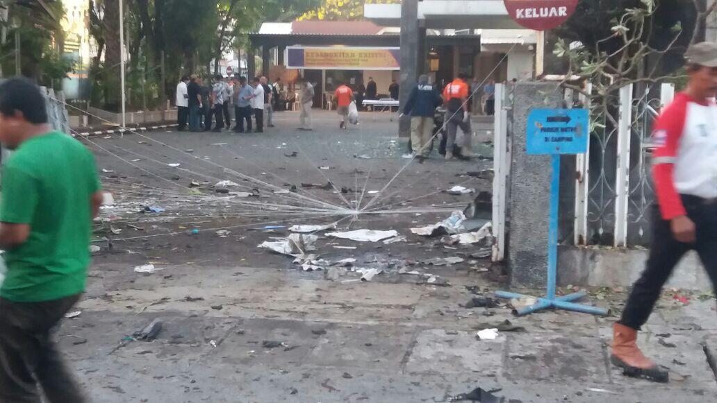 [FOTO] Dahsyatnya Ledakan Bom Surabaya di Gereja Santa Maria