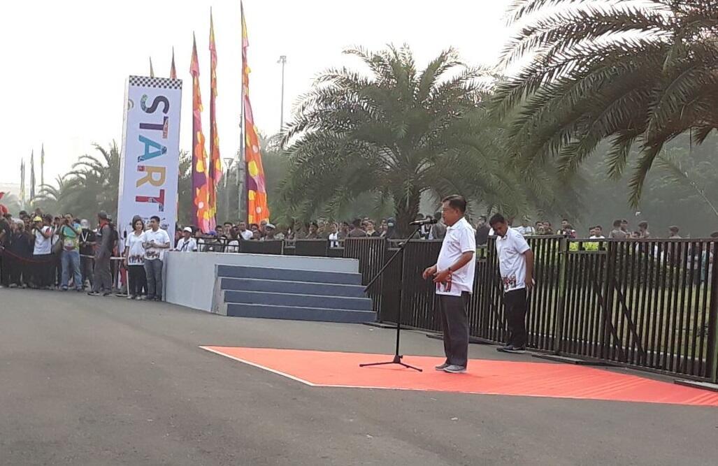 100 Hari Jelang Asian Games, Wapres JK Ajak Masyarakat Rayakan Parade