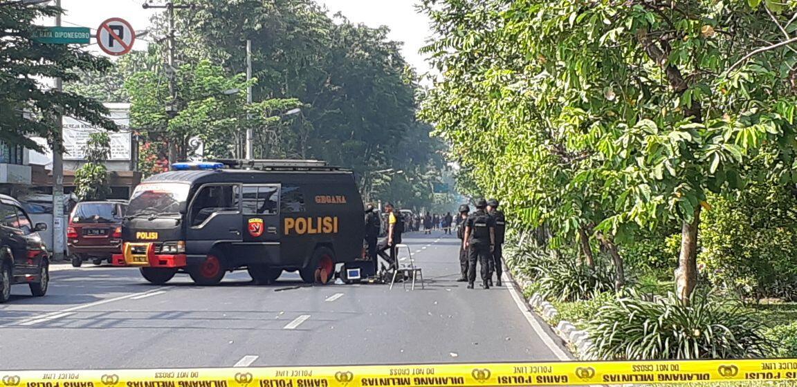 FOTO: Situasi Terkini Paska Ledakan di GKI Jalan Diponegoro Surabaya