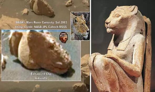 Merinding! Patung di Mars Ini Jadi Bukti Kalau Mesir Kuno Bersekutu dengan Alien?