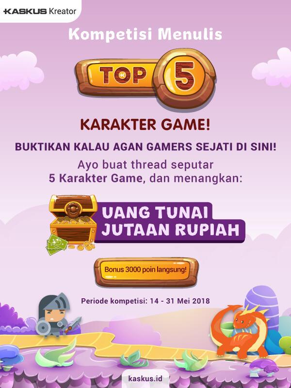 Kenapa Karakter Game Bisa Tak Terlupakan? Bahas di TOP 5!