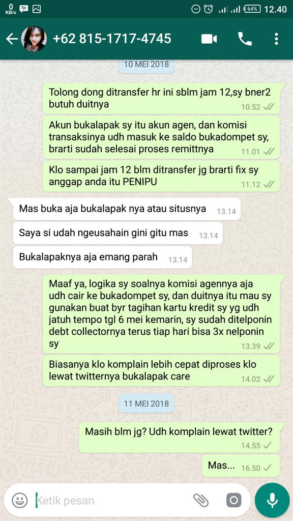 [Penipu] Sidik Maulana Hidayat @dikaulana