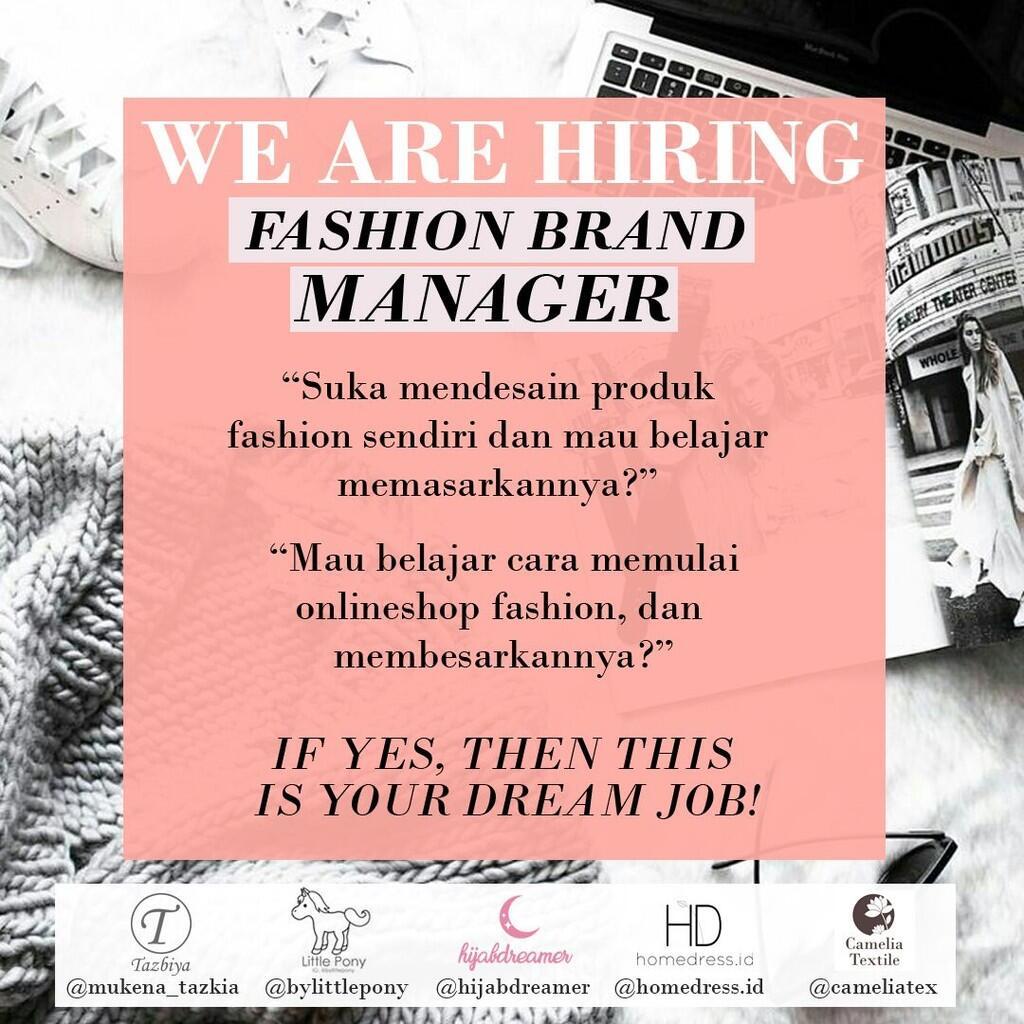 Lowongan Kerja Fashion Merchandiser
