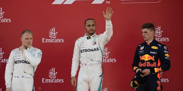 Lewis Hamilton Juarain GP Spanyol