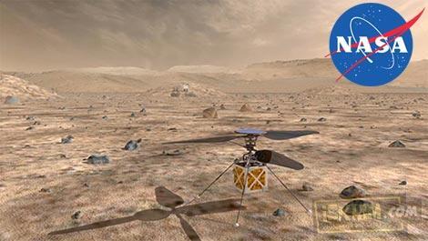 Pertamakali Dunia, 2020 NASA Kirim Helikopter Ke Mars (Bentuknya Bikin Nggak Nyangka)