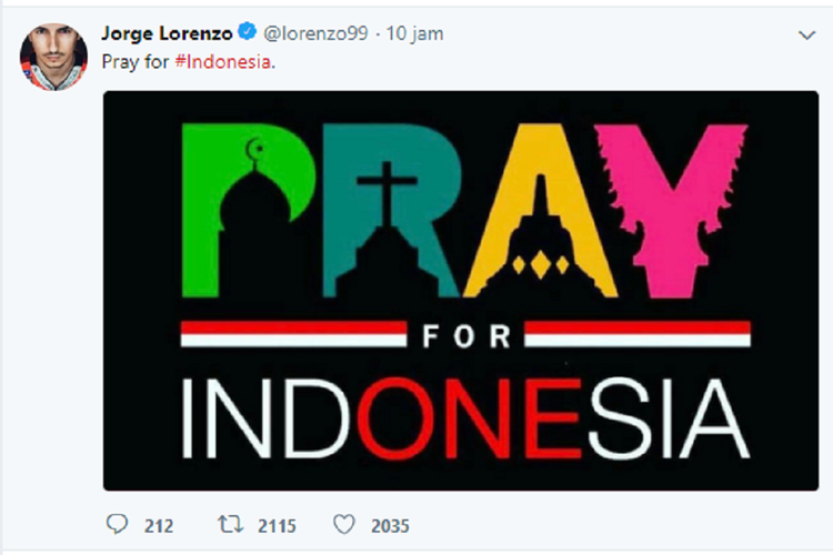 Lorenzo Mengunggah Simpati Buat Indonesia
