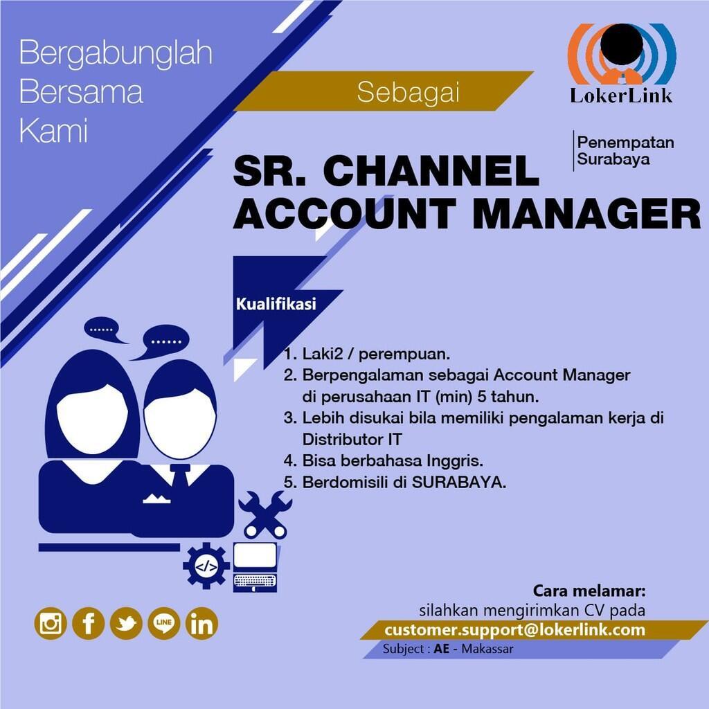 'SENIOR CHANNEL ACCOUNT MANAGER' (Penempatan Surabaya)