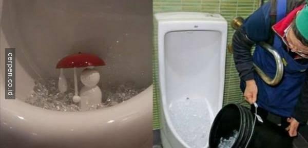 Es Batu Di Toilet Pria !! Untuk Apa ??