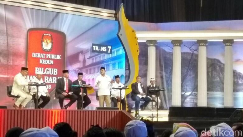 Debat kandidat Pilgub Jabar ricuh akibat #2019GantiPresiden Bikin Malu aja !!!