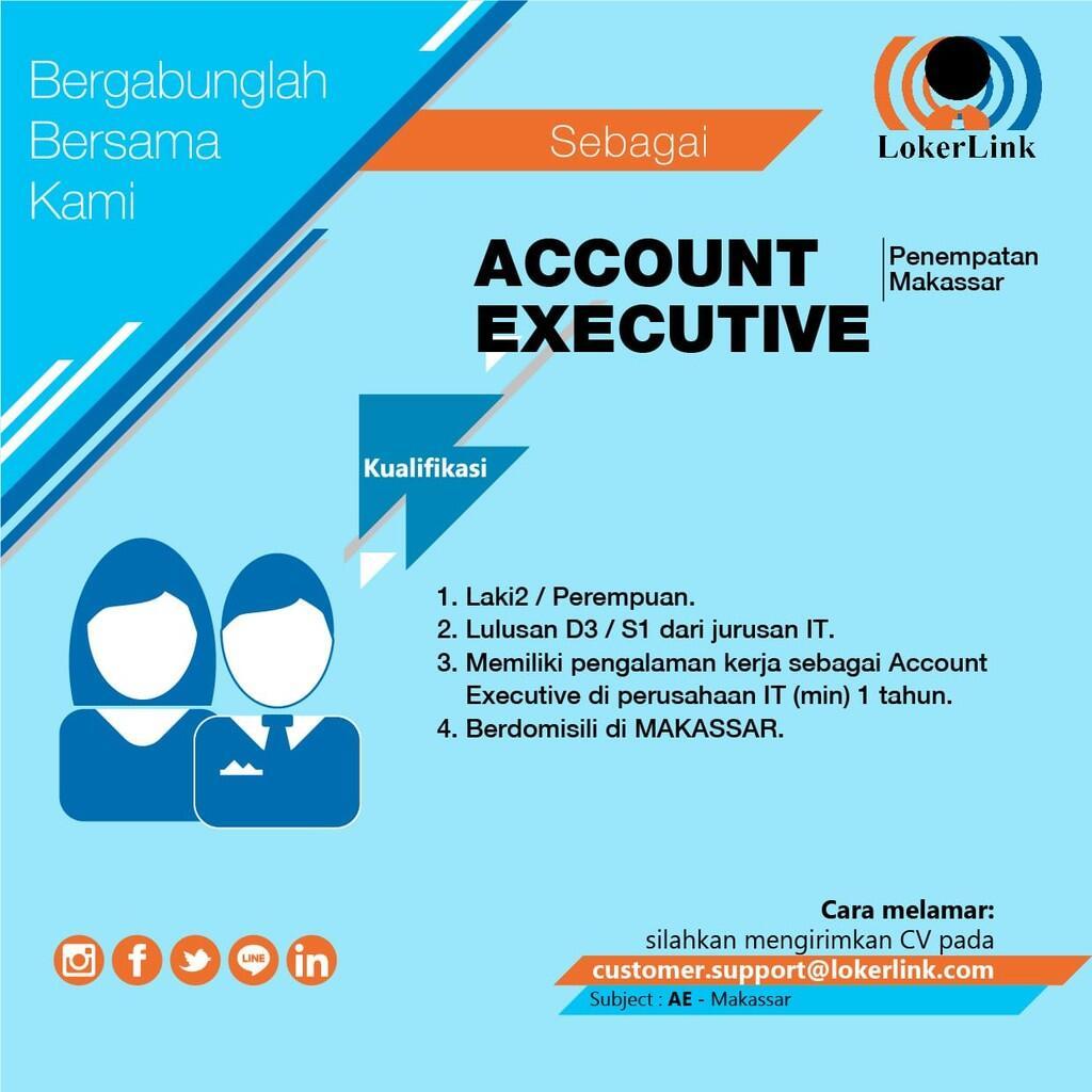Account Executive (Penempatan MAKASSAR)