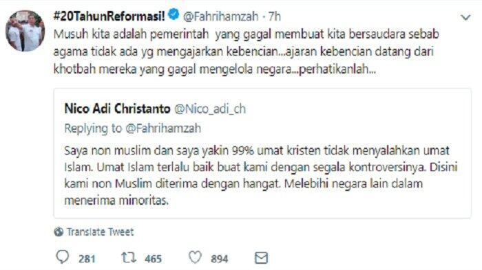 Fahri Hamzah: Musuh Kita adalah Pemerintah yang Gagal Membuat Kita Bersaudara